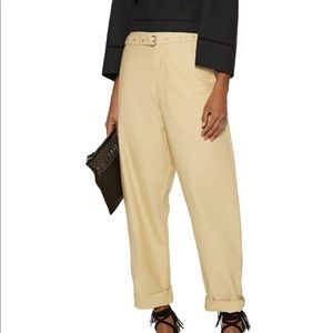 Isabel Marant Chic Poplin Relaxed Belted Pant